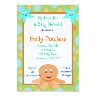 undersea2, Its time fora Baby Shower!, in honor... Card