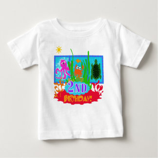 Undersea Adventure 2nd Birthday Baby T-Shirt
