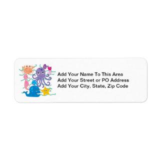 Undersea Adventure Return Address Label
