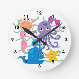 Undersea Adventure Round Clock