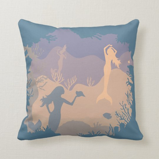 Undersea Mermaid Reef | Throw Pillow