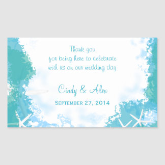 Undersea Stars Large Wedding Favor Labels