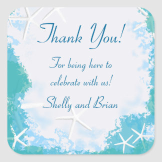 Undersea Stars Thank You Favor Label