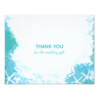 Undersea Stars Wedding Thank You Cards