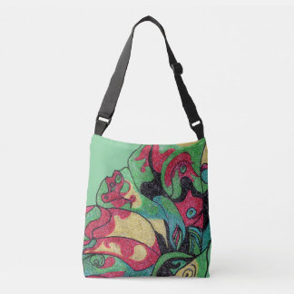 Undersea tote. Faded undulating colors! Crossbody Bag