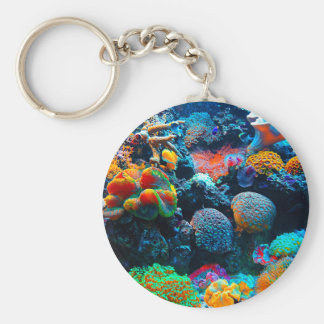 Undersea Tropical Coral Reef Keychain