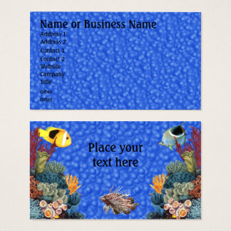 Undersea with Fish and Coral Business Profile Card