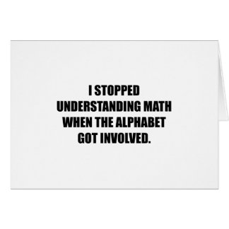 Understand Math Alphabet Card