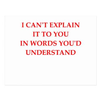 understand postcard