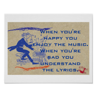 Understand the lyrics poster