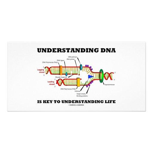 Understanding DNA Is Key To Understanding Life Photo Card Template