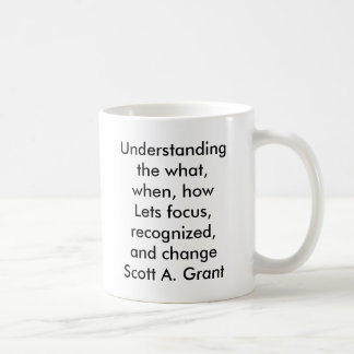 Understanding the what, when, howLets focus, re... Coffee Mug