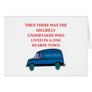 undertaker joke card