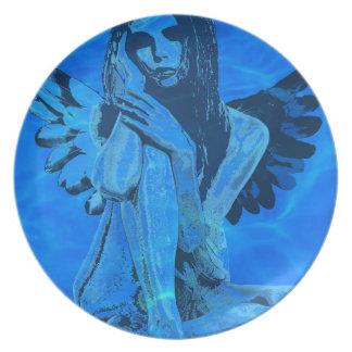 Underwater angel dinner plates