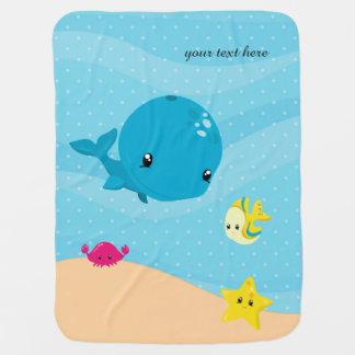 Underwater animals swaddle blanket