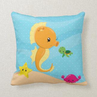 Underwater animals throw pillow