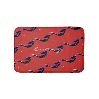 underwater black mermaids swimming Thunder_Cove Bath Mat