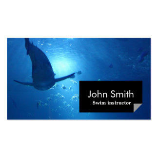 Underwater Blue Ocean Swimming Business Card