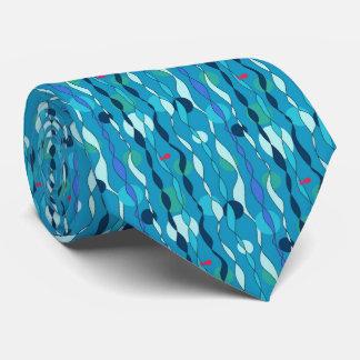 Underwater blue tie