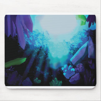underwater crystals mouse pad