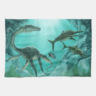 Underwater Dinosaur Kitchen Towel