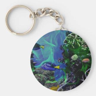 Underwater Fantasy World of fish Keychain