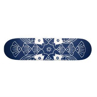 Underwater Fish Design with Blue Background Skate Deck