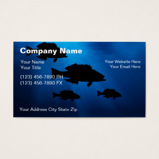 Charter boat business cards business card printing for Fishing charter business cards