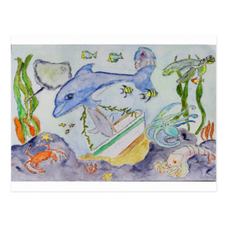 Underwater Fun Postcard