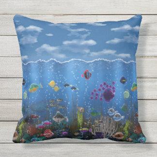 Underwater Love Outdoor Pillow