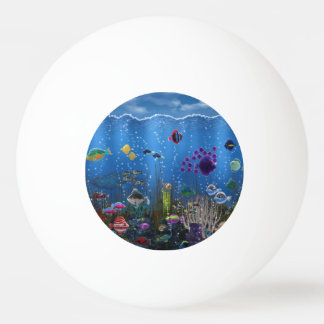 Underwater Love Ping Pong Ball