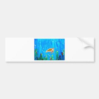 Underwater Magic 5-Happy Turtle excellent gift Bumper Sticker
