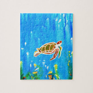 Underwater Magic 5-Happy Turtle excellent gift Jigsaw Puzzle