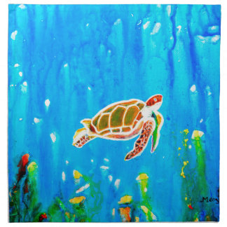Underwater Magic 5-Happy Turtle excellent gift Napkin