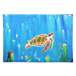 Underwater Magic 5-Happy Turtle excellent gift Placemat
