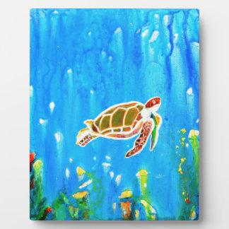 Underwater Magic 5-Happy Turtle excellent gift Plaque