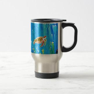 Underwater Magic 5-Happy Turtle excellent gift Travel Mug