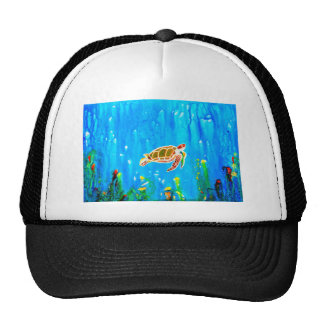 Underwater Magic 5-Happy Turtle excellent gift Trucker Hat