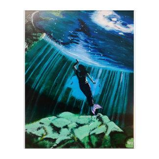 Underwater Mermaid by John Fermin Acrylic Wall Art