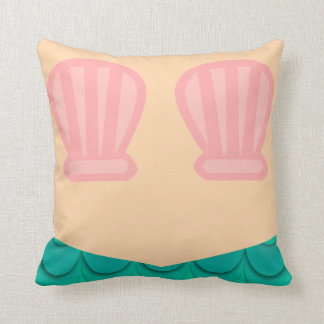 Underwater Mermaid Style Throw Pillow