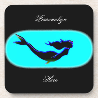 underwater mermaid swimming drink coaster