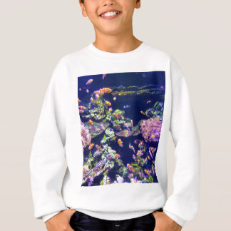 Underwater Orange Clown Fish Around Coral Sweatshirt