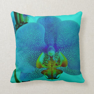 underwater orchid throw pillow