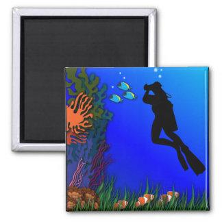 Underwater Photographer Magnet