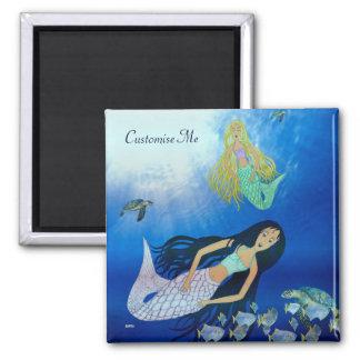 Underwater Play (Mermaid) Magnet