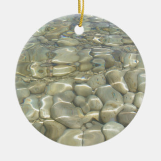 Underwater Rocks Ceramic Ornament