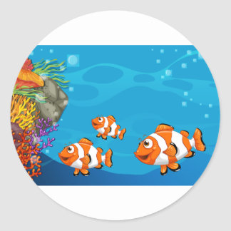 Underwater Round Sticker