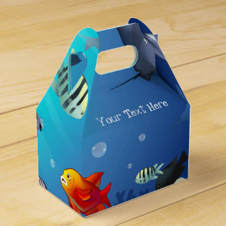 Underwater scene wedding favor boxes