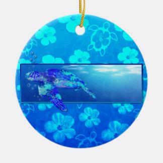 Underwater Sea Turtle Ceramic Ornament