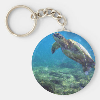 underwater sea turtle keyring